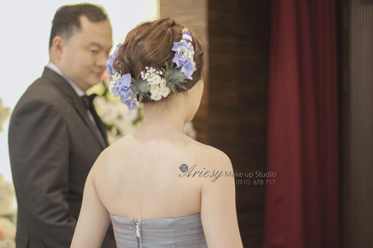 愛瑞思,新秘,新娘秘書,台北新秘,徐州路2號,ariesy,編髮,鮮花,韓風
