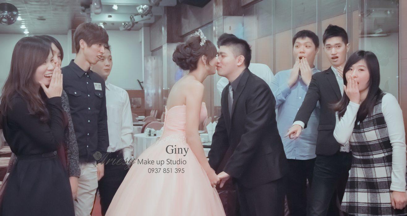 Giny,台北新娘秘書,新秘,蓬鬆盤髮,三峽金帝王,歐美手工飾品