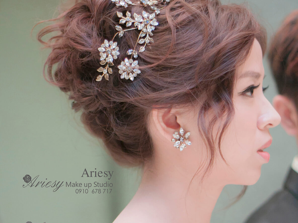 ariesy,愛瑞思,新娘秘書,新秘,編髮,鮮花造型,新娘秘書教學