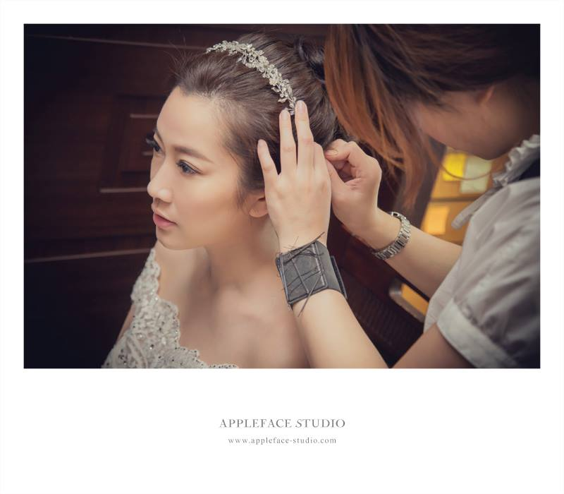 大倉久和,造型師安琪,編髮,鬆包頭,鮮花,APPLE FACE 臉紅紅攝影工作室