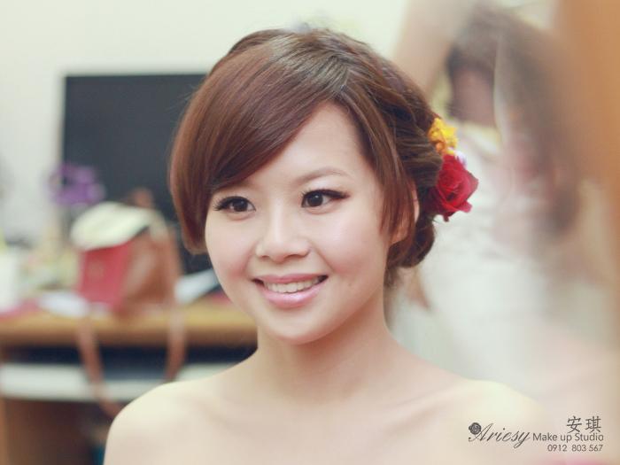 新秘,造型師安琪,新娘秘書,新秘,編髮造型,鮮花造型