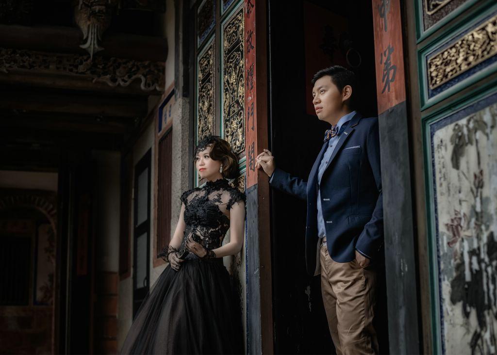陳景蘭陽樓,得月樓,指推造型,復古瀏海,羽毛飾品,新祕miko,金門婚紗