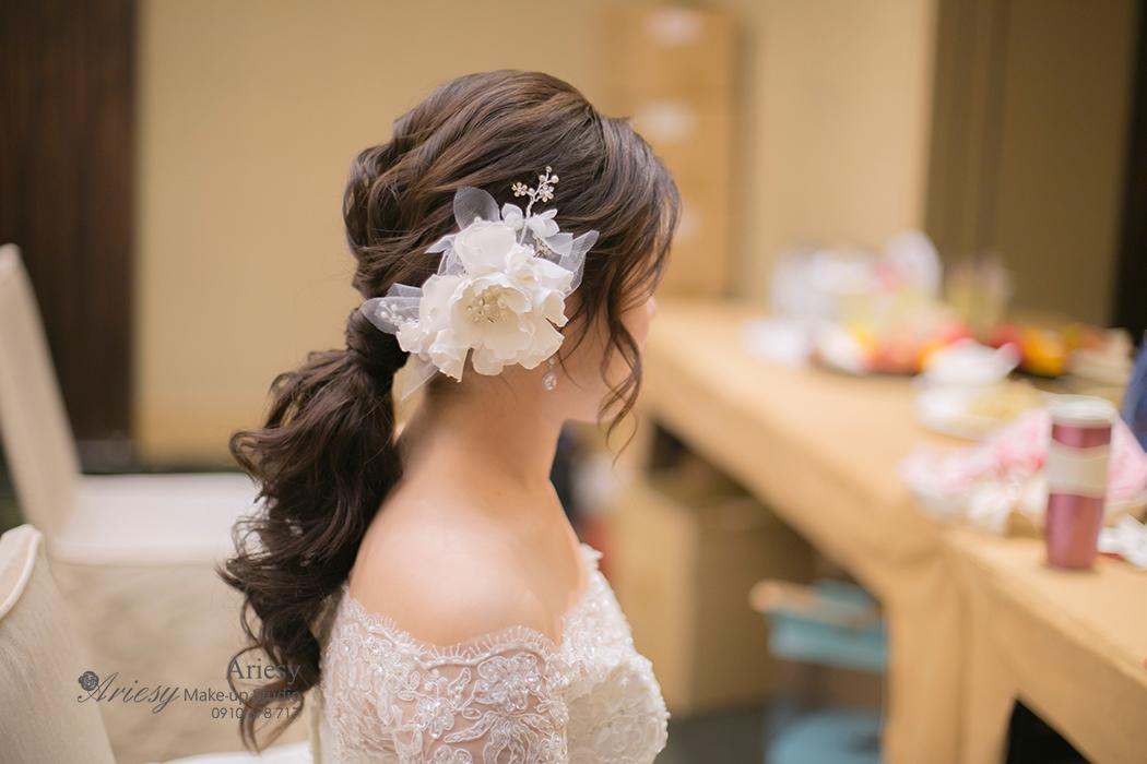 Ariesy,愛瑞思,新娘秘書髮型,新娘造型,新娘髮型,新秘造型, BRIDE, STRAND,braid,台北,婚宴場地,北投麗禧,韓風,韓國飾品,KOREA,韓國新娘造型