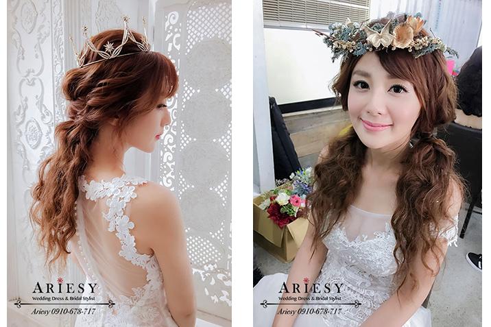 短髮新娘,花圈造型,新娘秘書,新娘髮型,J婚紗包套白紗造型