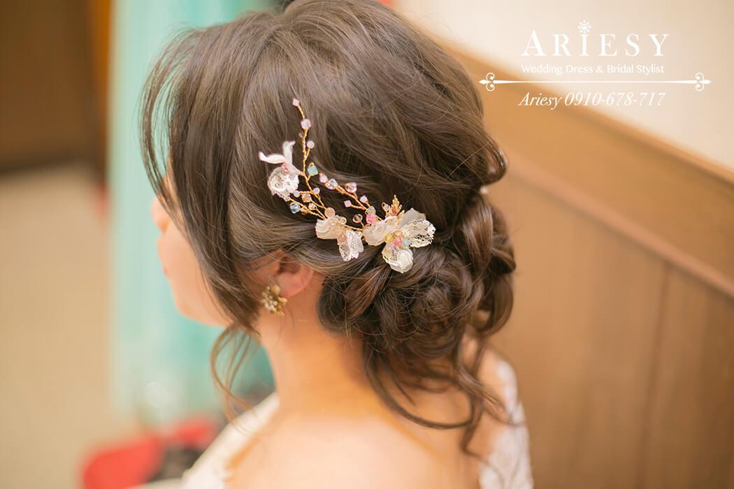 金門新娘造型,新娘髮型,新秘作品, BRIDE, STRAND,braid,自然妝感,手工新娘飾品,皇冠,歐美新娘飾品,Ariesy,韓國飾品,愛瑞思,新娘秘書髮型