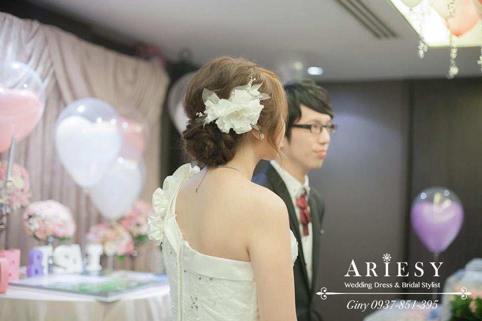 Giny,新娘秘書,新秘,清透自然妝感,鮮花花藝新娘造型,台北晶華酒店