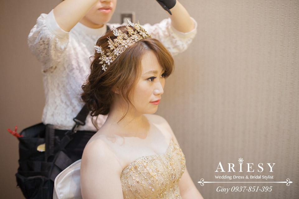 Giny,新娘秘書,新秘,妝感清透,歐美時尚新娘造型,彭園會館