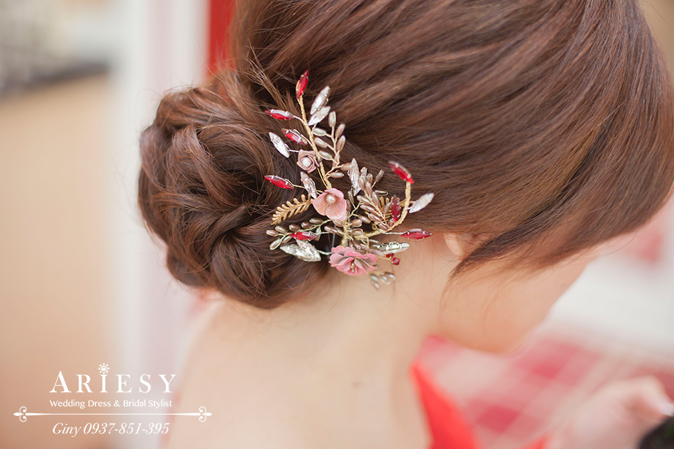 Giny,新娘秘書,台北新秘,自然妝感,氣質甜美風格新娘造型,台中林酒店