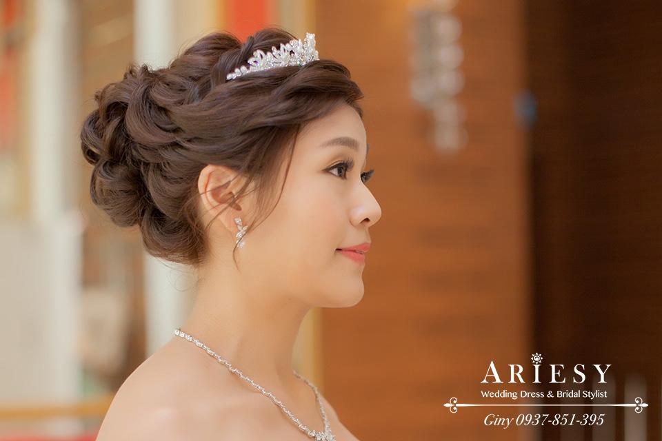 Giny,新娘秘書,台北新秘,清透自然妝感,黑髮新娘造型,大直典華