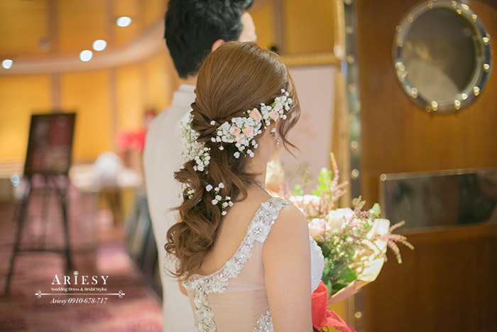 台北,歐華,新秘,新娘秘書,鮮花編髮,日系