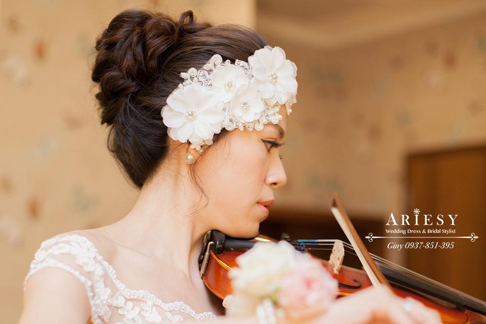 Giny,台北新娘秘書,新秘,清透自然妝感,黑髮新娘造型,維多麗亞酒店