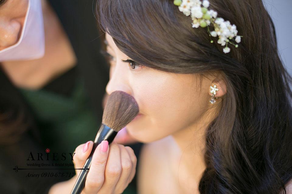 新秘作品,新娘造型,髮型,鮮花新秘