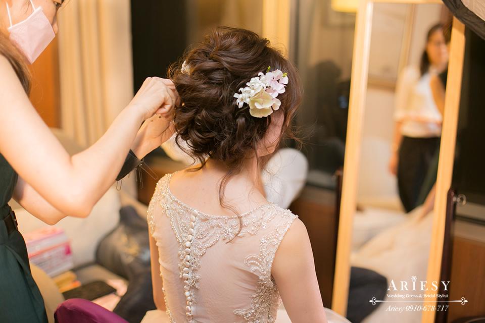 新娘造型,新娘髮型,新秘作品,鮮花