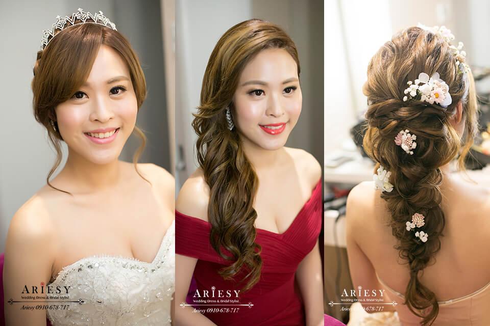 新娘秘書,新娘髮型,新秘,鮮花編髮