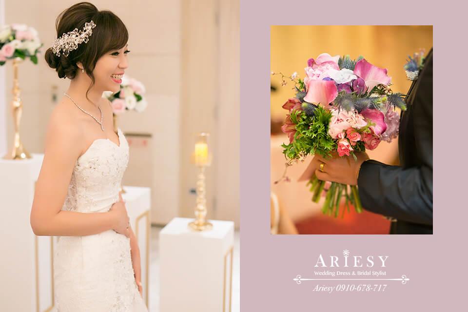 ARIESY新娘秘書,新娘捧花,新娘造型