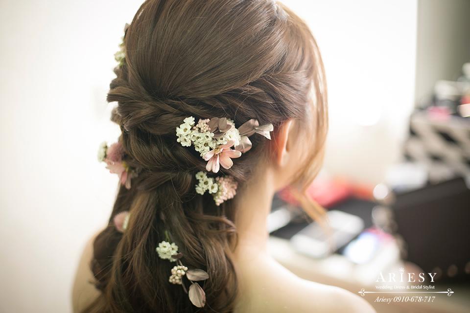 新娘秘書,新娘造型師,新娘髮型,鮮花造型