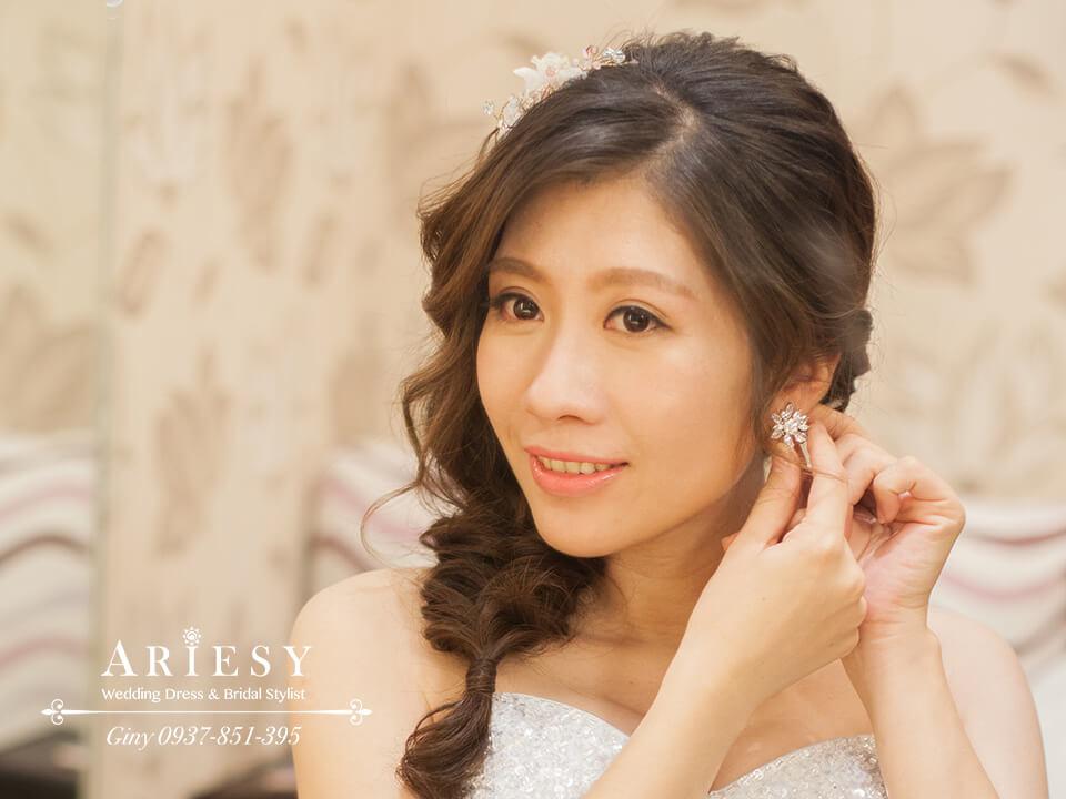 新娘髮型,新娘妝,編髮,歐美新娘,台北新秘