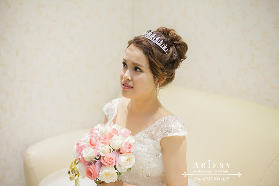 新娘造型,甜美新娘,編髮,新娘妝,新秘作品