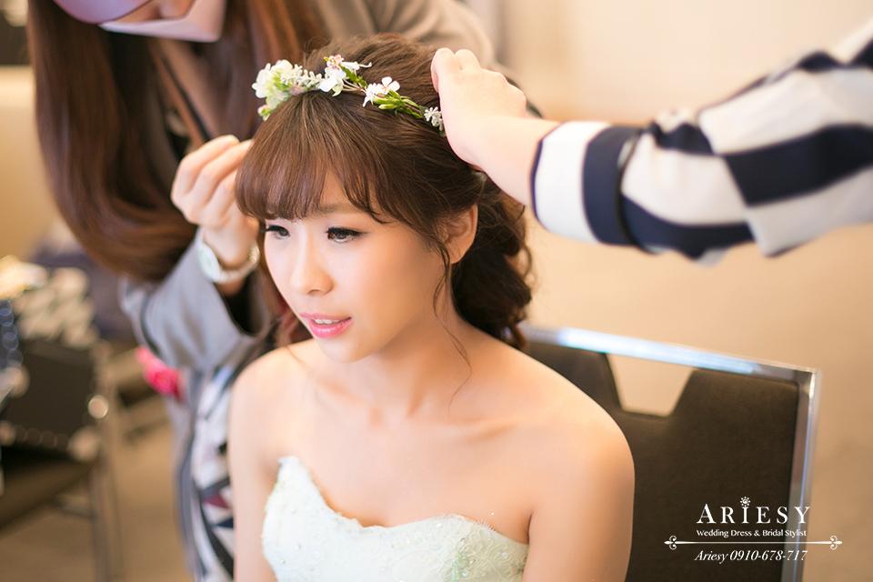 新娘秘書,新秘,鮮花造型,新娘髮型