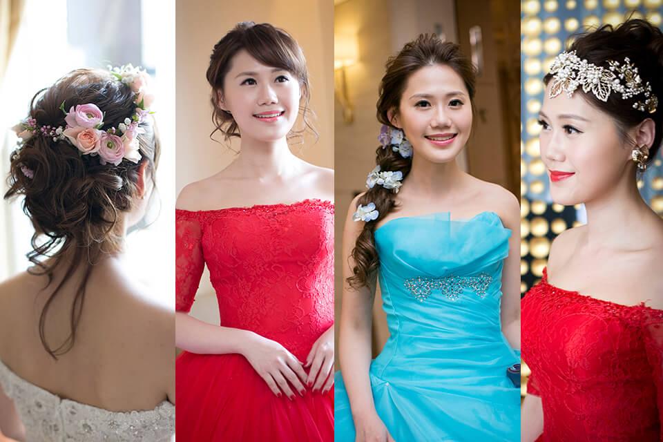 台北新秘,新娘秘書,鮮花造型,送客造型