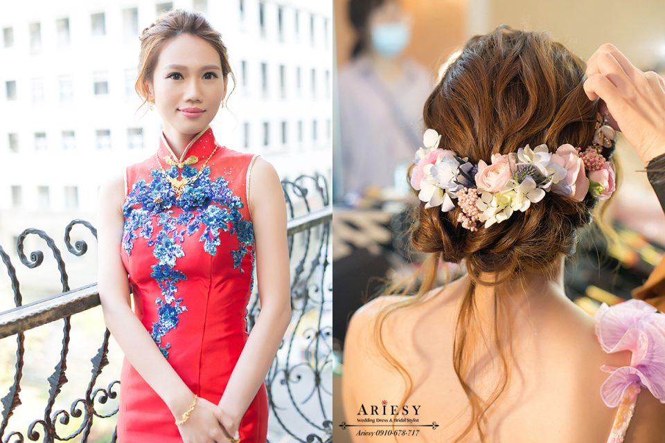 新娘秘書,鮮花新秘,鮮花造型,新娘造型,鮮花編髮