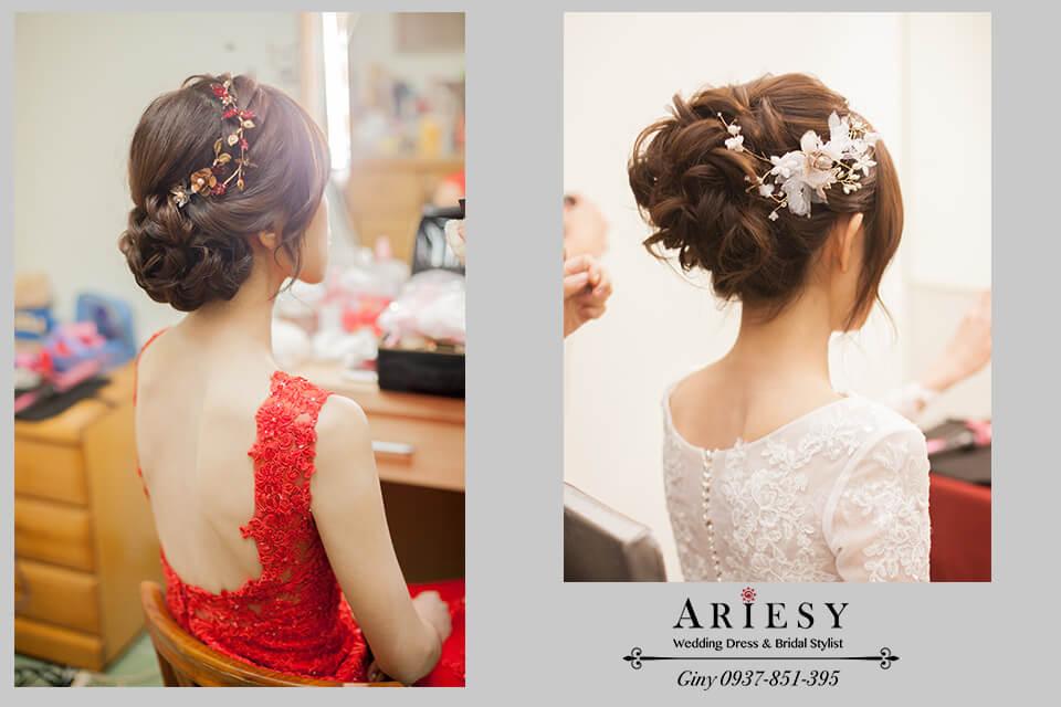 台北新秘,編髮造型,鮮花造型,新娘秘書,新娘髮型