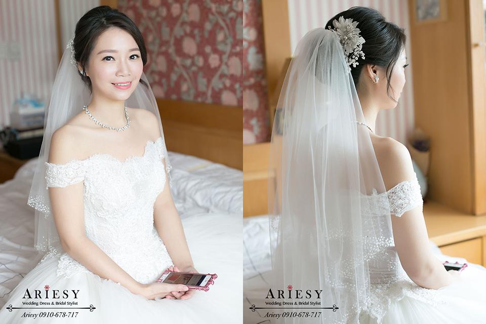 韓風新娘造型,韓系新娘秘書,自然輕透妝感,新娘髮型,鮮花編髮