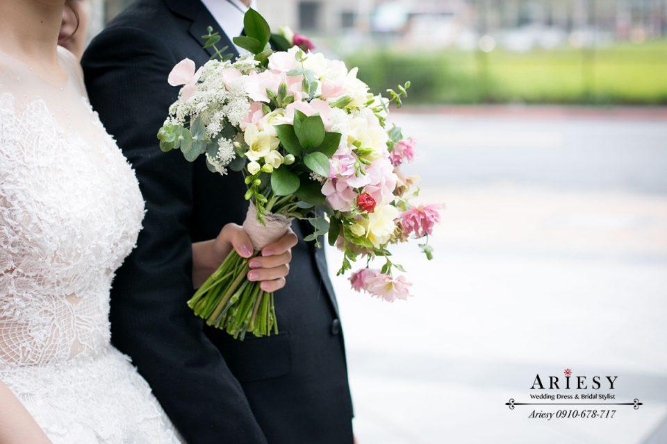新娘捧花,新秘捧花,新娘作品,新娘造型,粉色捧花