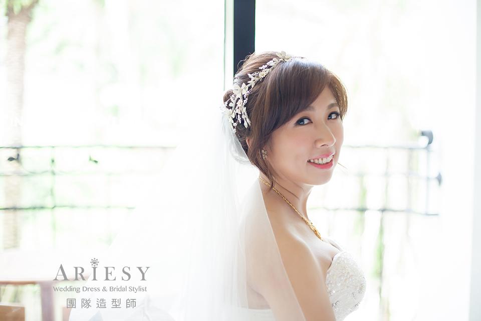 歐美新娘,證婚造型,台北新娘秘書,新娘造型,鮮花造型