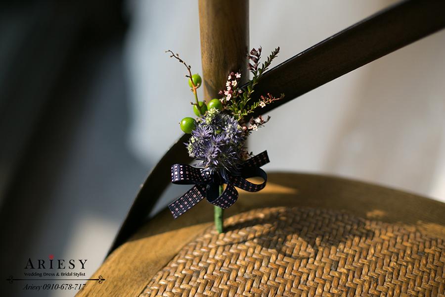 新娘捧花,歐美風,紫色新郎胸花,愛瑞思鮮花新秘