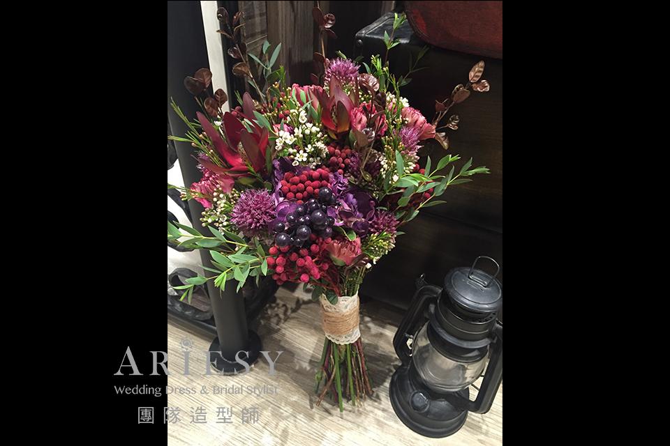 台北新秘,新娘捧花,新娘秘書,新秘花藝,歐美風格捧花