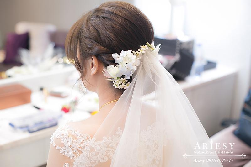 鮮花編髮,白紗造型,新秘推薦,新娘秘書