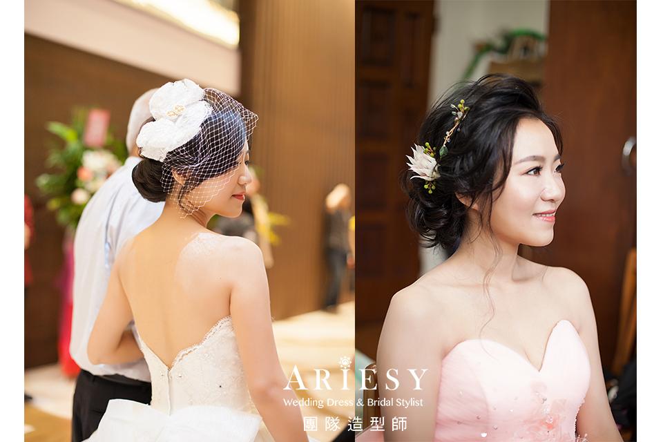 新秘花藝,台北新秘推薦,精緻自然妝感,甜美復古造型,黑髮造型