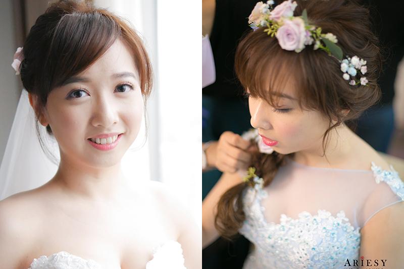新娘秘書,愛瑞思,ARIESY,新娘造型,新娘髮型
