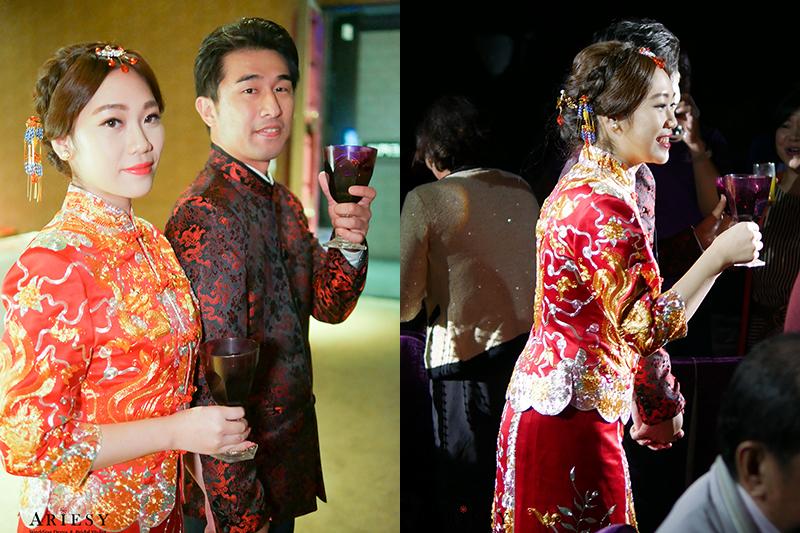 新娘秘書,台北新秘,新娘造型,歐美捧花,新娘髮型,龍鳳掛造型