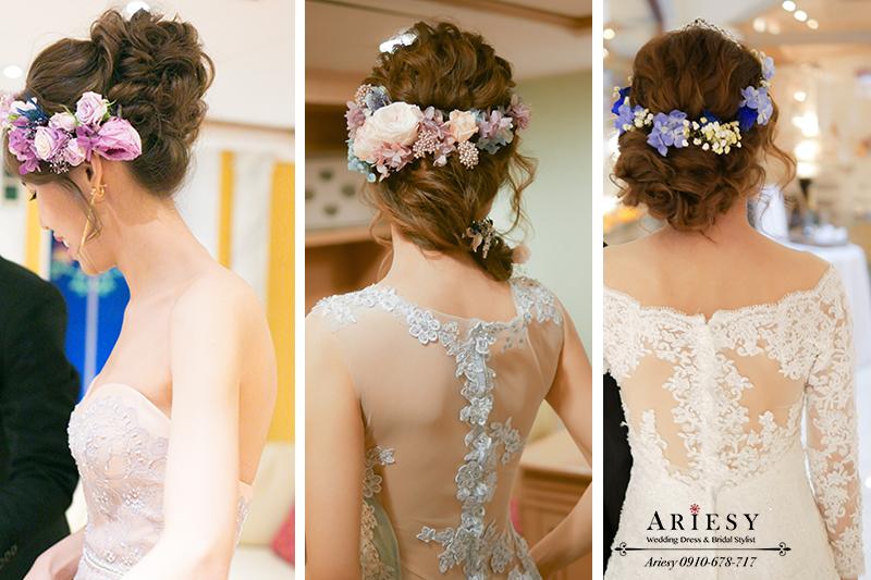 新娘秘書,台北新秘,歐美新娘,鮮花造型,新娘造型,新娘髮型