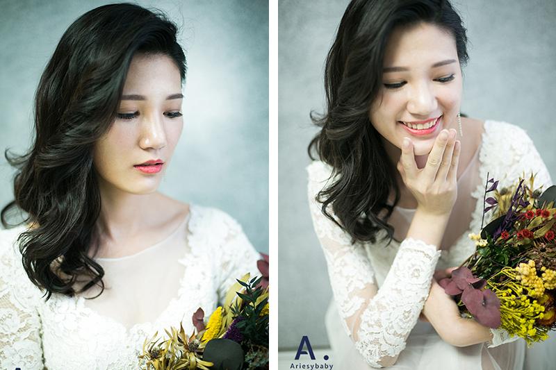 新娘編髮,新娘秘書作品,歐美髮型,波浪髮型,新娘造型