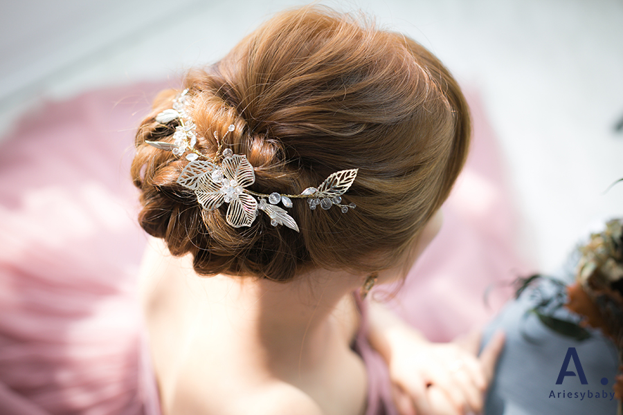 編髮新娘髮型,新秘作品,新秘團隊,盤髮造型,自然妝感