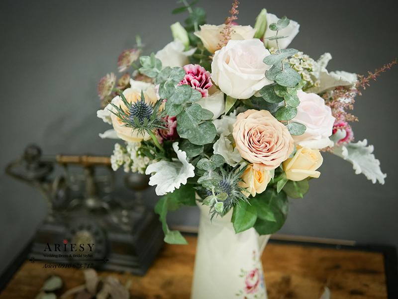 歐美捧花,新娘捧花,粉玫瑰捧花,奧斯汀捧花,Bridal bouquet