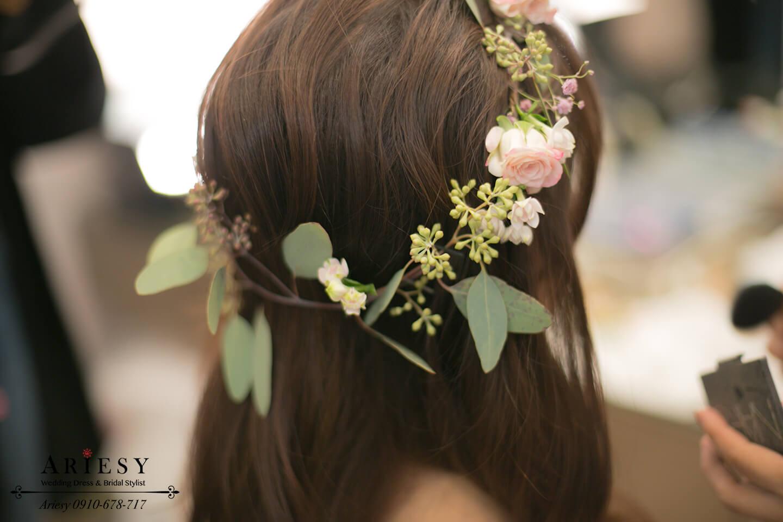 鮮花花圈,新娘花冠,新娘花環,新娘花圈造型,愛瑞思,Ariesy
