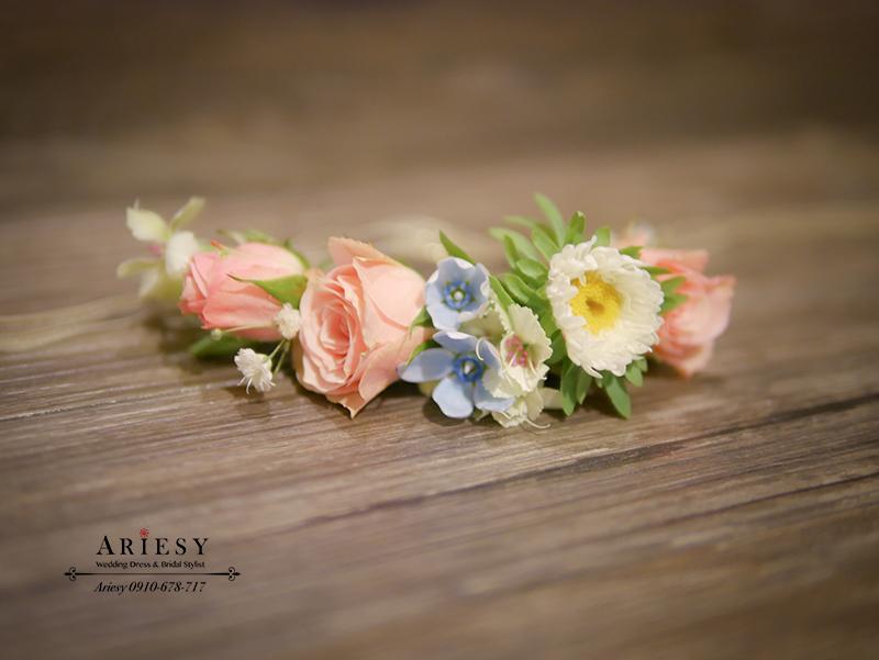 新娘手環,新娘手腕花,鮮花新秘,婚禮佈置,愛瑞思