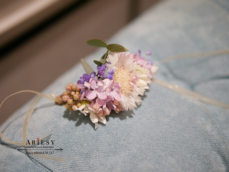 新娘手環,新娘手腕花,鮮花新秘,台北新秘,愛瑞思