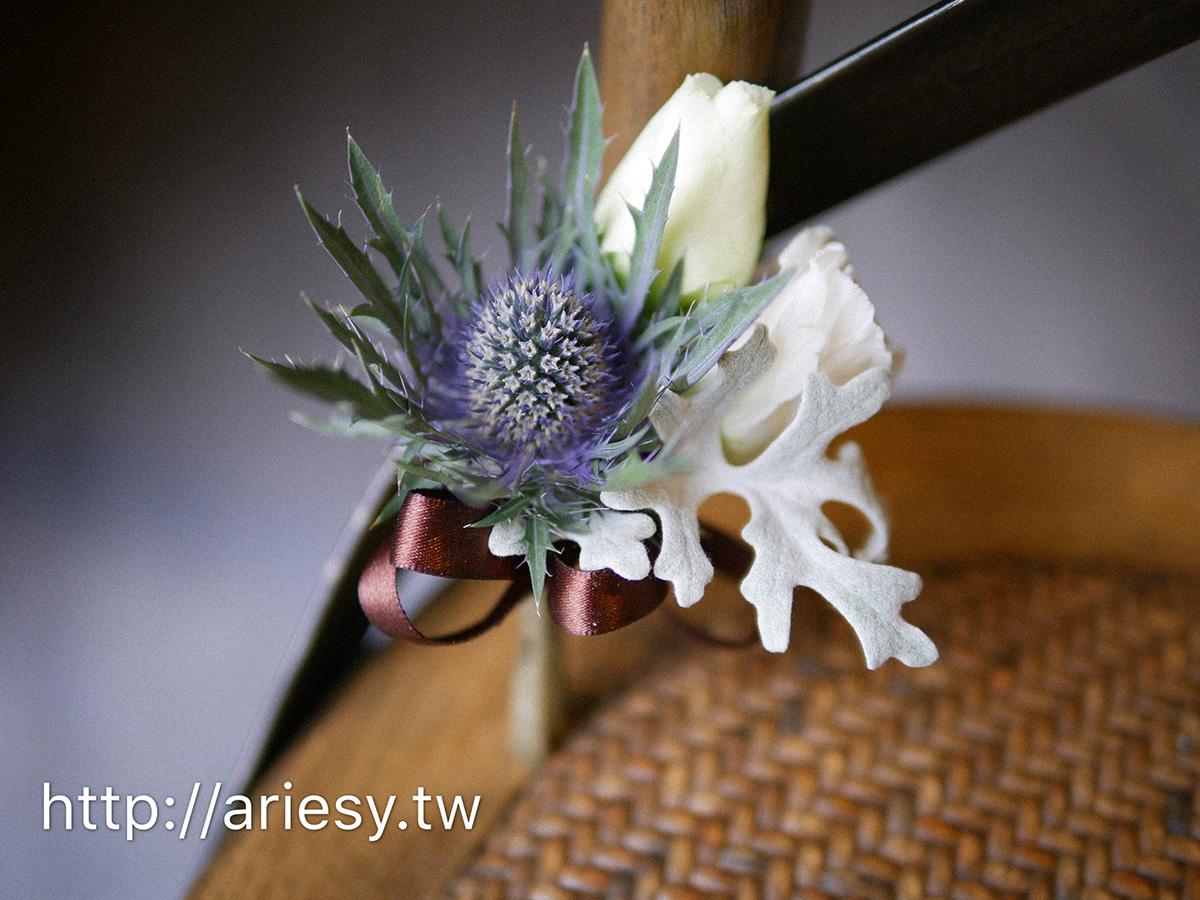 歐美新郎胸花,美式婚禮,新郎胸花,紫藍色系捧花,ariesy