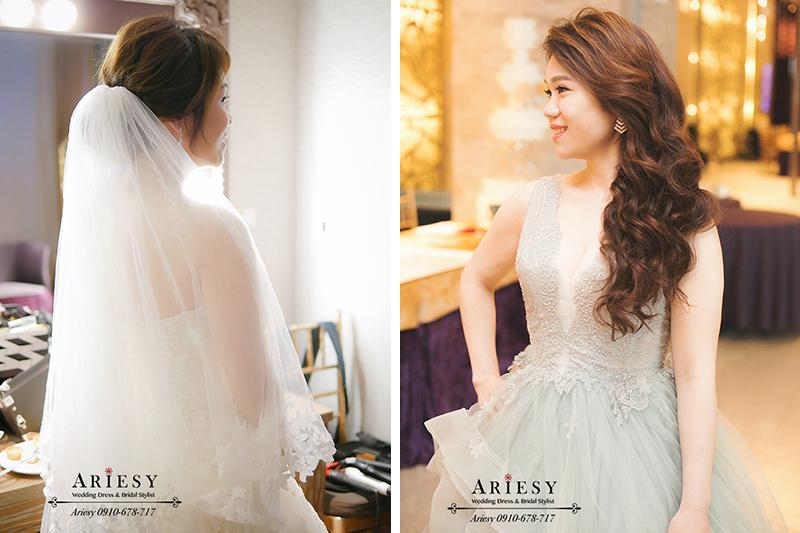韓系新娘造型,白紗新娘造型,迎娶造型,新莊頤品,蘿亞婚紗,時尚名媛造型,新娘時尚髮型,愛瑞思,ARIESY