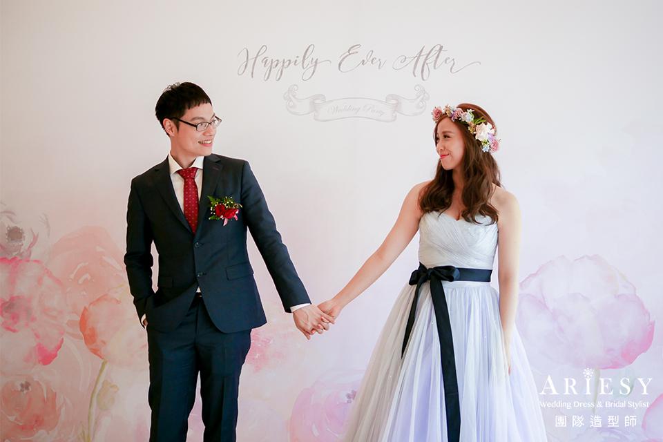 新娘送客造型,新娘妝感,新娘秘書,新秘推薦,鮮花花圈