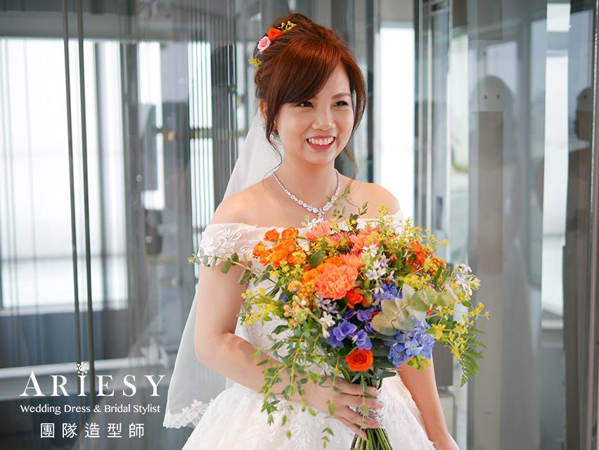 新娘眼型調整,新娘造型,新娘秘書,新娘編髮,新娘鮮花造型
