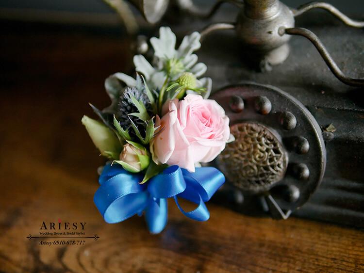 美式胸花,新郎胸花,粉色系捧花,ariesy,粉色系胸花