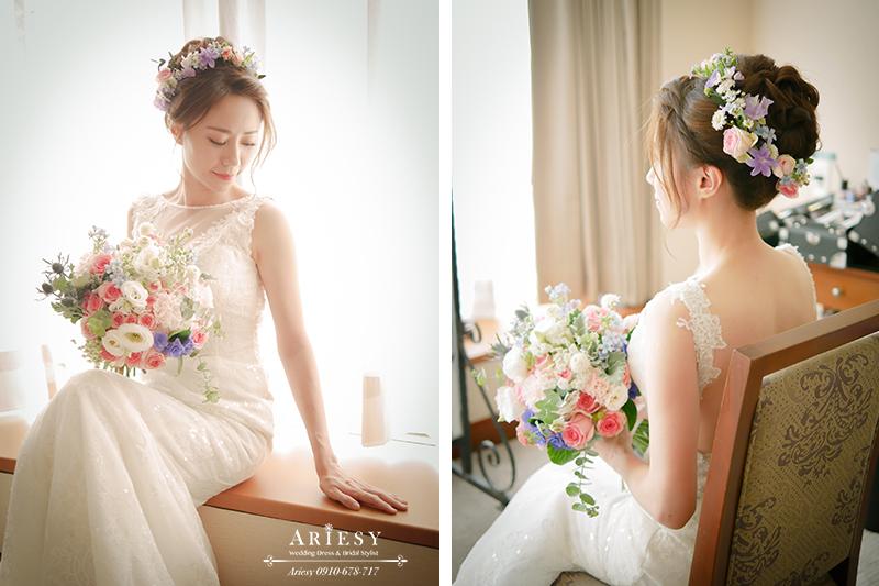 愛瑞思,ARIESY,鮮花新娘造型,鮮花新秘,北部新娘秘書,美式捧花