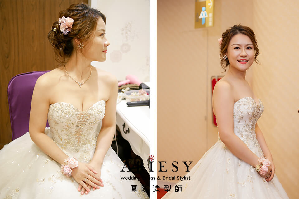 新娘進場造型,新娘妝感,鮮花飾品,新秘推薦,新娘手環花