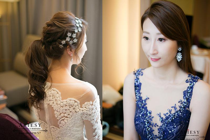 寒士白紗造型,新娘油頭造型,新娘髮型,新娘造型,愛瑞思,ariesy